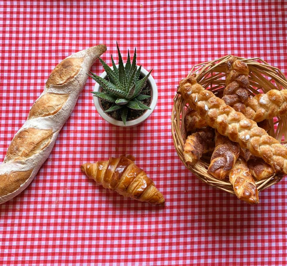 Floating Boulangerie's array of baked goods and breads
