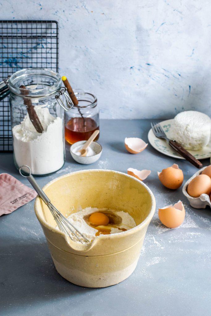 Pancake mix eggs and flour