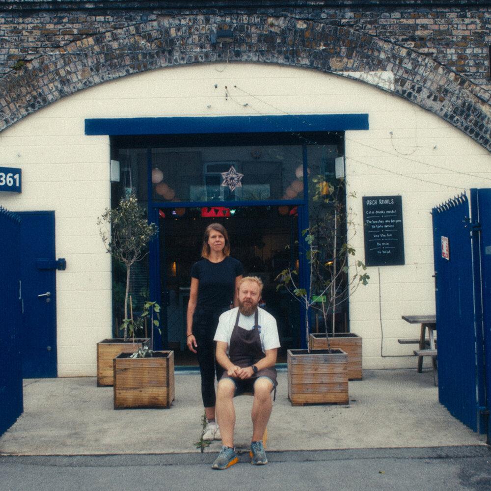 Michael Sanders and Karen Bundgaard for Arch Rivals, shot by Service Abnormal