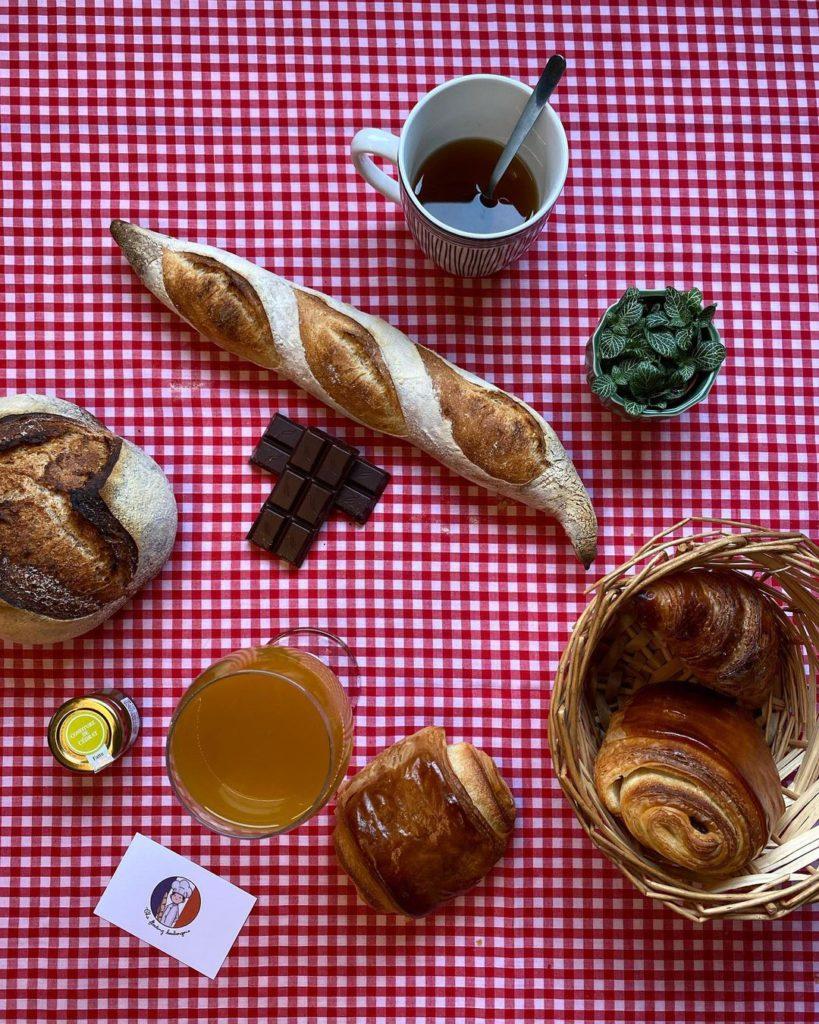 The Floating Boulangerie breakfast spread