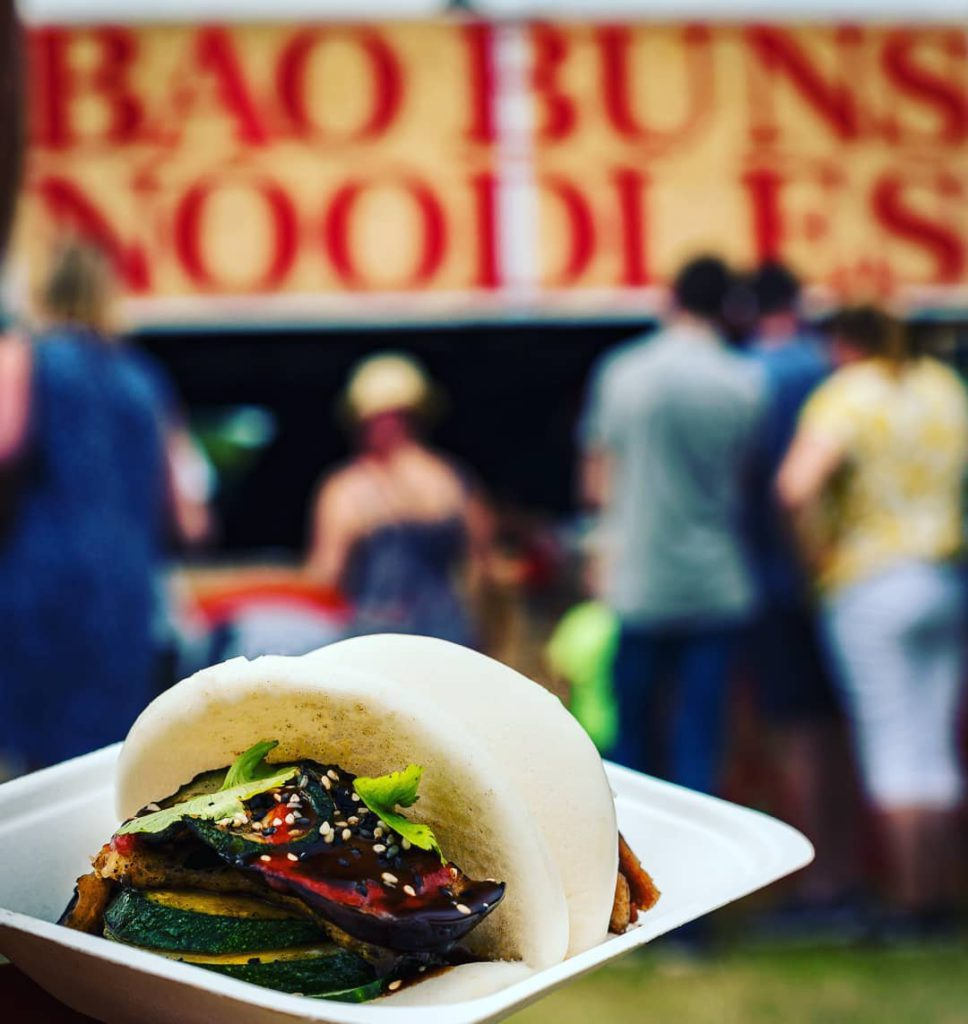 Steamed bao buns with Asian fusion toppings from London independent seller YouBao